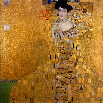 Portrait of Adele Bloch Bauer, by Gustave Klimt.